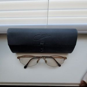 Authentic Cazal frames with case.